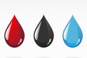 彩色水滴矢量