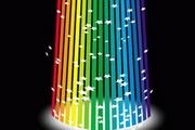 彩虹线条花纹矢量图