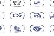 社交网络媒体简约图标
