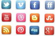 社交媒体网站图标