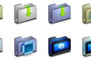 U形电脑文件夹图...