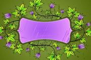 郁金香花纹边框矢量图