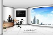 办公室职业女性PSD素材