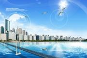 海滨城市风景图P...