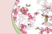 花枝绕兰PPT模板