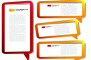 信息设计框矢量素材