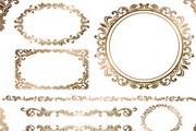 欧式金色边框矢量素材