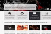黑色网页设计模板psd素材