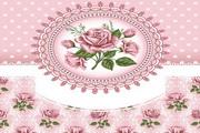 矢量粉色花卉背景