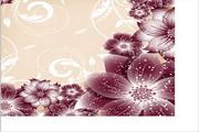 矢量绚丽花卉边框设计