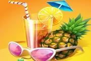 夏日清凉饮品矢量图