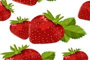 草莓葡萄水果矢量图