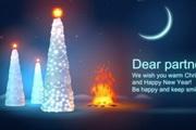 庆祝圣诞开关灯flash片头动画
