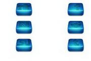 蓝色立体方块logo标志图标