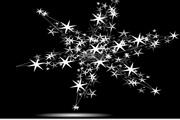 矢量璀璨恒星背景模板