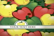 绚彩蔬菜背景矢量素材图