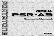 雅马哈PSR-A3型电子琴说明书
