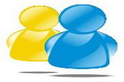 蓝黄系统桌面图标下载