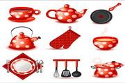 矢量卡通可爱茶具