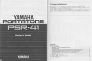 雅马哈PSR-41型电子琴说明书