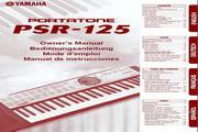 雅马哈PSR-125型电子琴说明书