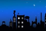 城市夜空PPT模板