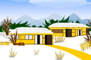 篱笆房子PPT模板