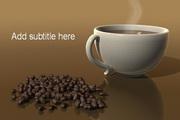 品尝咖啡PPT模板