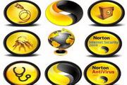 黄色设计电脑png透明图标