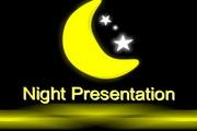 夜色背景PPT模板