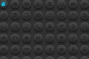 黑灰色质感网页图标素材psd