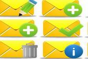 黄色邮件信封桌面图标