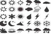 矢量天气预报图标