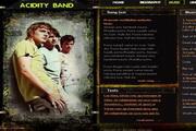 音乐网站设计模板psd素材