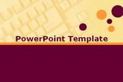 橙与紫键盘PPT模板
