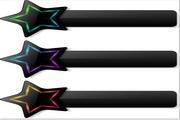 矢量五角星装饰标签