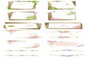 情书信纸设计矢量图4