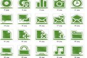 绿色系统桌面图标素材