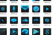 蓝黑手机主题图...