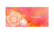 彩色柔美花卉背景素材