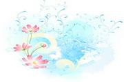 淡彩花卉素材2