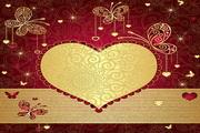 心形浪漫花纹矢量底图设计