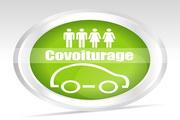 汽车燃料的绿色象征图标