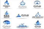 矢量天然气公司标志设计