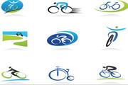 矢量骑行运动标识