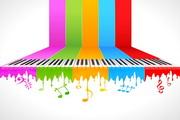七彩创意钢琴矢量素材