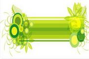 矢量绿色时尚花纹素材3