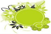 矢量绿色时尚花纹素材4