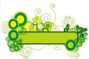 矢量绿色时尚花纹素材5