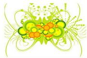 矢量绿色时尚花纹素材7